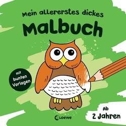 Mein allererstes dickes Malbuch (Eule) von Flad,  Antje, Penner,  Angelika