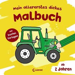 Mein allererstes dickes Malbuch (Traktor) von Flad,  Antje, Penner,  Angelika