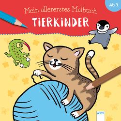 Mein allererstes Malbuch. Tierkinder von Kessner,  Lydia