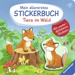 Mein allererstes Stickerbuch: Tiere im Wald von Dal Lago,  Gabriele
