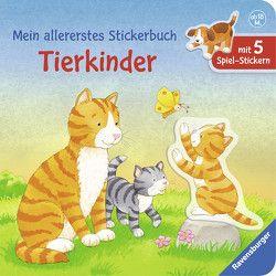 Mein allererstes Stickerbuch: Tierkinder von Cuno,  Sabine, Dal Lago,  Gabriele