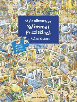 Mein allererstes WimmelPuzzleBuch – Auf der Baustelle von Krause,  Joachim
