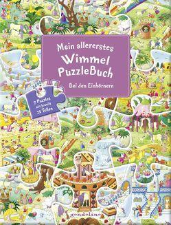 Mein allererstes WimmelPuzzleBuch – Bei den Einhörnern von Bartl,  Ulla