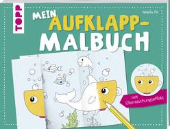 Mein Aufklapp-Malbuch mit Überraschungseffekt von Pitz,  Natascha