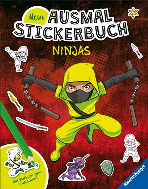 Mein Ausmal-Stickerbuch: Ninjas von Grubing,  Timo