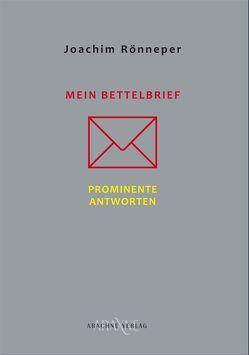 MEIN BETTELBRIEF von Rönneper,  Joachim