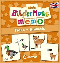 Mein Bildermaus-Memo – Englisch – Tiere – Animals von Wieker,  Katharina