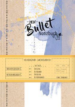 Mein Bullet Notizbuch – Watercolor blau von Wolff,  Katrin