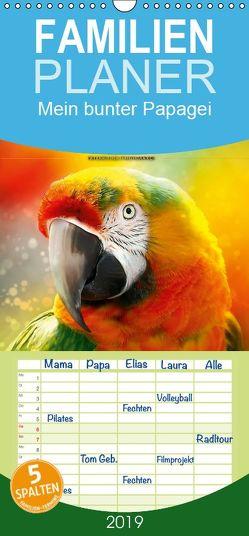 Mein bunter Papagei – Familienplaner hoch (Wandkalender 2019 , 21 cm x 45 cm, hoch) von Roder,  Peter