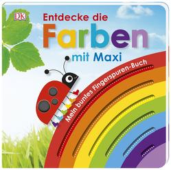 Mein buntes Fingerspuren-Buch. Entdecke die Farben mit Maxi von Jaekel,  Franziska