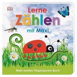 Mein buntes Fingerspuren-Buch. Lerne zählen mit Maxi von Jaekel,  Franziska