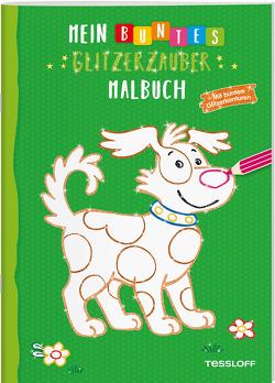 Mein buntes Glitzerzauber-Malbuch (Hund). Mit bunten Glitzerkonturen von Teschner,  Oliver, Turnhofer,  Kersti