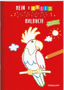 Mein buntes Glitzerzauber-Malbuch (Papagei). Mit bunten Glitzerkonturen von Teschner,  Oliver, Turnhofer,  Kersti