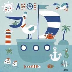 Mein buntes Kinderzimmerbild – Freunde im Meer von Holtfreter,  Nastja