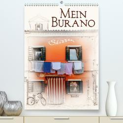 Mein Burano – Skizzen (Premium, hochwertiger DIN A2 Wandkalender 2020, Kunstdruck in Hochglanz) von Kraetschmer,  Marion