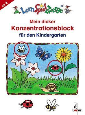 Mein dicker Konzentrationsblock für den Kindergarten von Merle,  Katrin