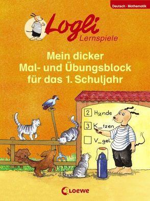 Mein dicker Mal- und Übungsblock für das 1. Schuljahr von Beurenmeister,  Corina, Honnen,  Falko