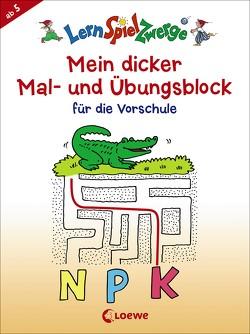 Mein dicker Mal- und Übungsblock für die Vorschule von Penner,  Angelika