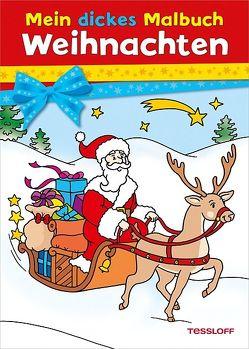 Mein dickes Malbuch Weihnachten von Durczok,  Marion, Haller,  Ute