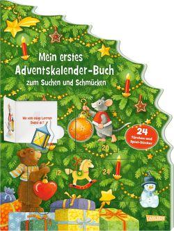 Mein erstes Adventskalender-Buch zum Suchen und Schmücken – Mit 24 Türchen und Spiel-Stickern von Wissmann,  Maria