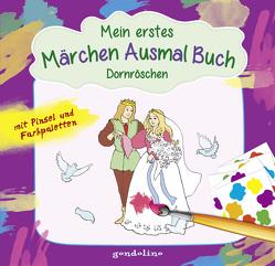 Mein erstes Märchenausmalbuch mit Pinsel und Farbpalette: Dornröschen. Das komplette Märchen zum Vorlesen und Ausmalen! von Krämer,  Marina, Nick,  Svenja