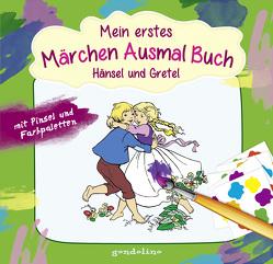 Mein erstes Märchenausmalbuch mit Pinsel und Farbpalette: Hänsel und Gretel von Kuhn,  Felicitas, Nick,  Svenja