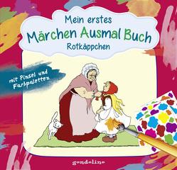 Mein erstes Märchenausmalbuch mit Pinsel und Farbpalette: Rotkäppchen. Das komplette Märchen zum Vorlesen und Ausmalen! von Krämer,  Marina, Nick,  Svenja