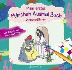 Mein erstes Märchenausmalbuch mit Pinsel und Farbpalette: Schneewittchen. Das komplette Märchen zum Vorlesen und Ausmalen! von Kuhn,  Felicitas, Nick,  Svenja