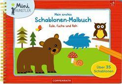 Mein erstes Schablonen-Malbuch: Eule, Fuchs und Reh