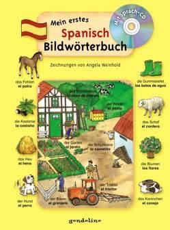 Mein erstes Spanisch Bildwörterbuch + CD von Weinhold,  Angela