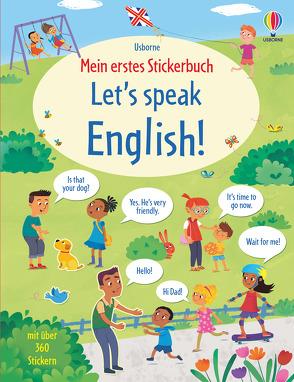 Mein erstes Stickerbuch: Let's speak English! von Grassi,  Marcella, Mackinnon,  Mairi