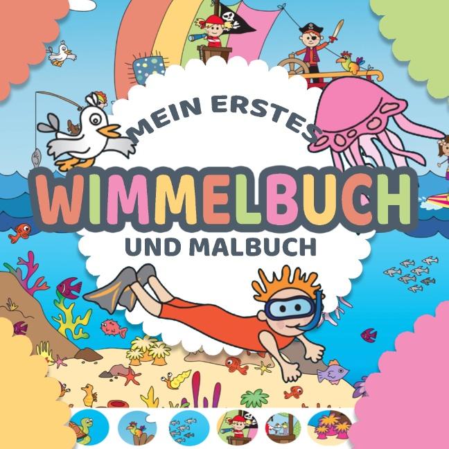 Mein Erstes Wimmelbuch Und Malbuch Für Kinder In Einem Wimmelbilder