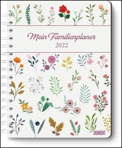 Mein Familienplaner-Buch Lovely Flowers 2022 ‒ Buch-Kalender ‒ Praktisch, zum Mitnehmen ‒ mit 5 Spalten und vielen Zusatzseiten