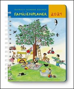 Mein Familienplaner-Buch Wimmlingen 2021 ‒ Mit Illustrationen von Rotraut Susanne Berner ‒ Buch-Kalender ‒ Praktisch, zum Mitnehmen ‒ mit 5 Spalten und vielen Zusatzseiten von Berner,  Rotraut Susanne