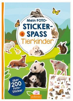 Mein Foto-Stickerspaß – Tierkinder von Schindler,  Eva