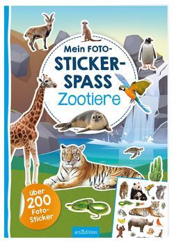 Mein Foto-Stickerspaß – Zootiere von Schindler,  Eva