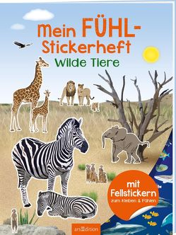 Mein Fühl-Stickerheft – Wilde Tiere von Bräuer,  Ingrid