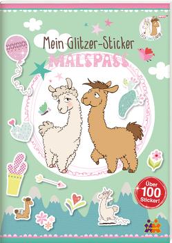 Mein Glitzer-Sticker-Malspaß. Lama