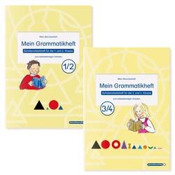 Mein Grammatikheft 1/2 & 3/4 für die 1. bis 4. Klasse im Set von Langhans,  Katrin