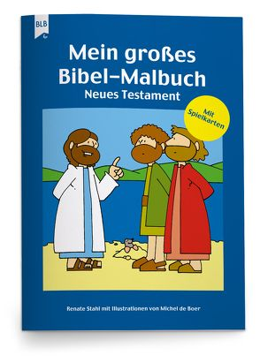 Mein großes Bibel-Malbuch von Boer,  Michel de
