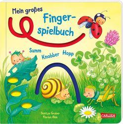 Mein großes Fingerspielbuch: Summ, knabber, hopp! von Ahle,  Florian, Gruber,  Denitza