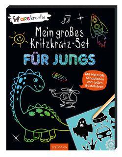 Mein großes Kritzkratz-Set – Für Jungs