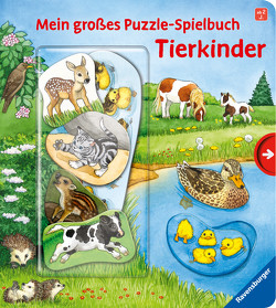 Mein großes Puzzle-Spielbuch: Tierkinder von Ebert,  Anne, Nahrgang,  Frauke