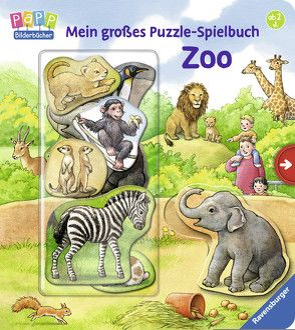 Mein großes Puzzle-Spielbuch Zoo von Möller,  Anne