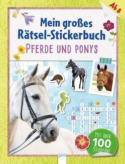 Mein großes Rätsel-Stickerbuch. Pferde und Ponys von Deike Press