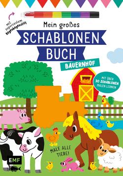 Mein großes Schablonen-Buch – Bauernhof von Golding,  Elizabeth, McDonald,  Jake