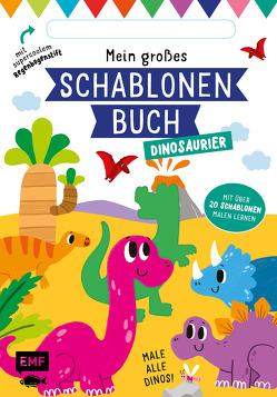 Mein großes Schablonen-Buch – Dinosaurier von Golding,  Elizabeth, McDonald,  Jake