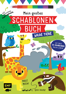 Mein großes Schablonen-Buch – Wilde Tiere von Golding,  Elizabeth, McDonald,  Jake