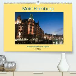 Mein Hamburg – Am schönsten bei Nacht (Premium, hochwertiger DIN A2 Wandkalender 2020, Kunstdruck in Hochglanz) von Enders,  Borg