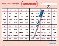 Mein Hunderterfeld – Römische Ziffern und Stift von Langhans,  Katrin